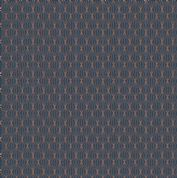 Lewis & Irene - City Nights - 6034 - Copper (Metallic) on Dark Blue - A294.3 - Cotton Fabric